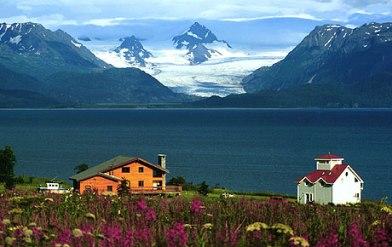 Overlooking Homer, Alaska.